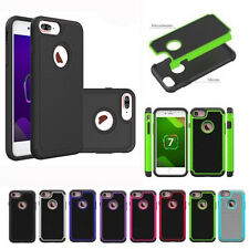 Silicone Rubber 2 in1 New Shockproof Hybrid Cover Case For Apple iPhone 7/7plus