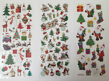 CHRISTMAS STICKERS-FATHER CHRISTMAS/XMAS PRESENT-SHINY HOLOGRAPHIC-SANTA CLAUSE