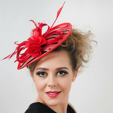 Flower Large Feather Fascinator Clip Hat Headband Party Kentucky Derby