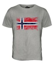 NORWAY DISTRESSED FLAG MENS T-SHIRT TOP NOREG NORWEGIAN NORGE SHIRT FOOTBALL