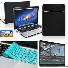 "Hard Case & Soft Bag, Blue Keyboard &Film 13.3""Macbook Pro w/Retina A1425/A1502"