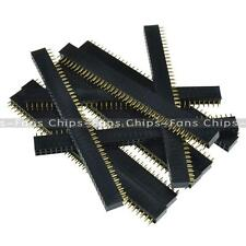5/10/20/50/100PCS 2 x 40 2.54mm Double Row Female Pin Header gold-plated CF