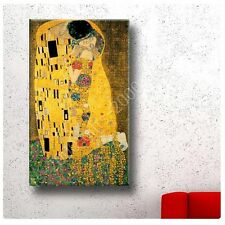Synthetic CANVAS +GIFT The Kiss Gustav Klimt Paintings Posters Wall Decor