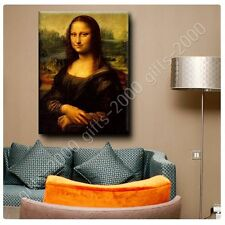 Synthetic CANVAS +GIFT Mona Lisa Leonardo Da Vinci Pictures Painting Prints