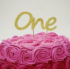 1st Birthday Cake Topper - Number One Party Cake Topper Childrens Party Decor