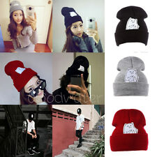 Hip Hop Fall /Summer Unisex Beanies Winter Acrylic Cat knit wool cap Hats HOT