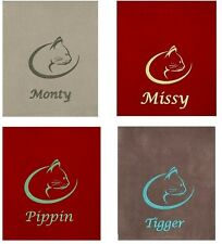 Embroidered & Personalised Fleece Cat Blankets