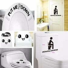 Toilet Seat Wall Sticker Paper Vinyl Art Removable Bathroom Decals Mural Decor