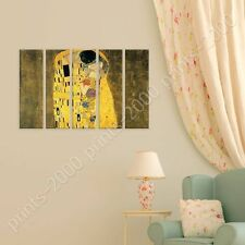 POSTER or STICKER +GIFT Decals Vinyl The Kiss Gustav Klimt 5 Panels Poster