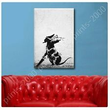 POSTER or STICKER +GIFT Decals Vinyl Rat With Dollar Eyes And Jigsaw Banksy