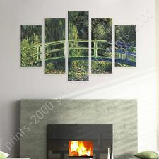 POSTER or STICKER +GIFT Decals Vinyl Water Lily Pond Claude Monet 5 Panels