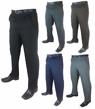 """Mens Big Size Casual/Formal Trousers/Pants Legs 27"""" 29""""and 31"""" Waist 30-62"""