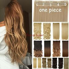 100% Natural,Clip In Hair Extension,4/3Full Head,Long Wavy Curly Straight,Ombre