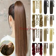 Clip In Hair Extension Ponytail As Human Pony Tail Hair Piece Barbie Blonde H910