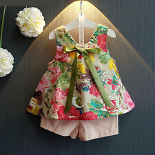New Baby Girls Clothing Set Floral Top + Pink Shorts 2 Pcs/Set Kids Outfit