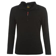 WOMENS LADIES BLACK GELERT WALKING 1/4 ZIP FUNNEL NECK FLEECE JUMPER TOP SWEATER