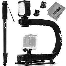Opteka X-GRIP Pro Camera Stabilizing Handle + LED Light, Monopod, GoPro Adapters