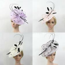 Large Headband Fascinator Hat Wedding Bride Ladies Day Race Royal Ascot Headwear
