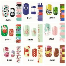 12 Colors DIY Nail Wraps Stickers Adhesive Polish Foils Decoration Art Decals