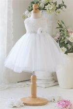 New Baby Girls Party Formal Dress Ball Gown Infant Toddler Dress With Flower