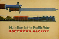 Main line to the Pacific War 1943 Medium CANVAS PRINT FRAMED choose size