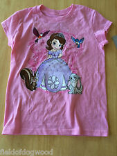 NWT Disney Store Princess Sofia and Friends Tee Shirt Top SZ 7/8