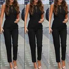 Women Sexy Sleeveless Bodycon Casual Jumpsuits Slim Bodysuit Party Long Romper