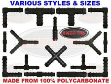 Nylon Barbed Silicone Hose Connector Fuel Pipe Joiner Water