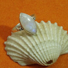 925 Sterling Silver Handmade rainbow moonstone Ring  Pure and Authentic Gemstone