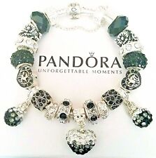 AUTHENTIC PANDORA CHARM BRACELET 925 ALE Silver European Lampwork Beads #24