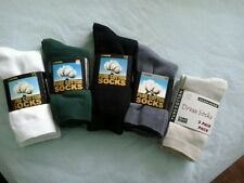 PURE COTTON SCHOOL SOCKS, UNISEX, TEENAGE OR LADIES SHOE SIZE 2-8, 3 PAIRS PACK
