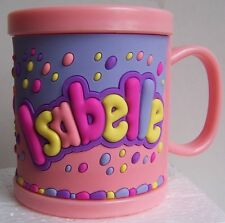 Girl Childrens 3D Personalised Name Plastic Cup/Mug New ISABELLE