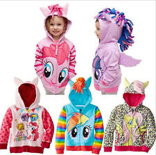 Kids Girls Cute Horse Floral Hoodie Wings Coat Jacket Sweater Tops 1-8 Years