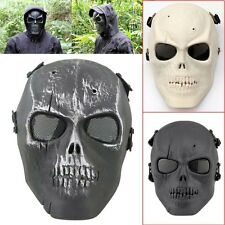 Protective Full Face Skeleton Skull Mask Airsoft Paintball Halloween Costume New
