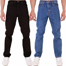 New Mens Slim Fit Skinny Heavy Duty Mechanic Denim Jeans All Waist Sizes