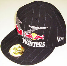 RED BULL & FOX RACING XFIGHTER FLAT BRIM FITTED HAT CAP BRAND NEW