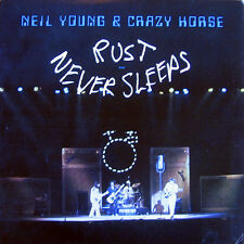 "NEIL YOUNG CRAZY HORSE RUST NEVER SLEEPS LP VINYL RECORD 12"" w/INNER"