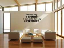 Inspired Wall Decal being a brother Quote Vinyl Nursery Boy Play Room Home Decor