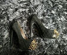 black and gold stud spike heels size 39