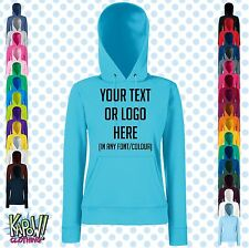 Custom Personalised Womens/Ladies Printed HOODIE Hen Party Gift-Your text/logo3