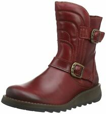 Fly london Sven731FLY Red Leather Womens Short Boots