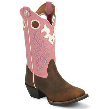 CHILDRENS/YOUTH TONY LAMA BUCKAROO PINK UPPER WESTERN BOOTS LL405