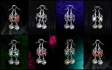 SPIDER WEB EARRINGS~HALLOWEEN SEXY WICKED WITCH COSTUME PARTY COSPLAY ACCESSORY