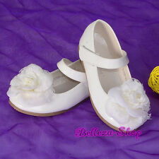 Rosette Shoes Toddler Girl US Size 6.5-13 Wedding Pageant Party GS012