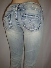 """New Silver Jeans TUESDAY 16.5"""" Boot Cut Low-Rise Good Price! 60920A"""