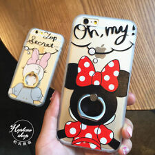 For iPhone 6S 6SPlus 6Plus 5s Cartoon Cute Minnie Daisy Ring holder Stand case