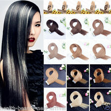 "100% Remy Human Hair Extensions Weave Skin Weft 3M Tape in 16""18""20"" 20pcs/set"