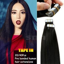 STRAIGHT TAPE In 20Pcs/50g Skin Weft 100% REAL Remy Human Hair Extensions I299