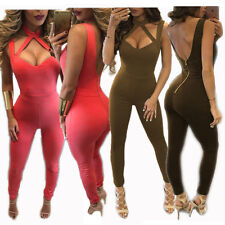 Sexy New Women Sleeveless Backless Jumpsuit Bodycon Bandage Evening Party Romper