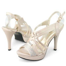 SHOEZY Womens platform high heels sandals satin strappy summer party Shoes size